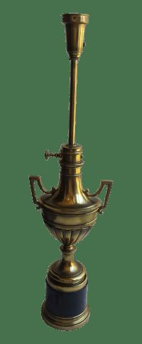 Stiffel Torchiere Lamp Brass & Hunter Green Trophy Lamp ...
