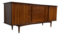 United Furniture Mid-Century Walnut Dresser | Chairish