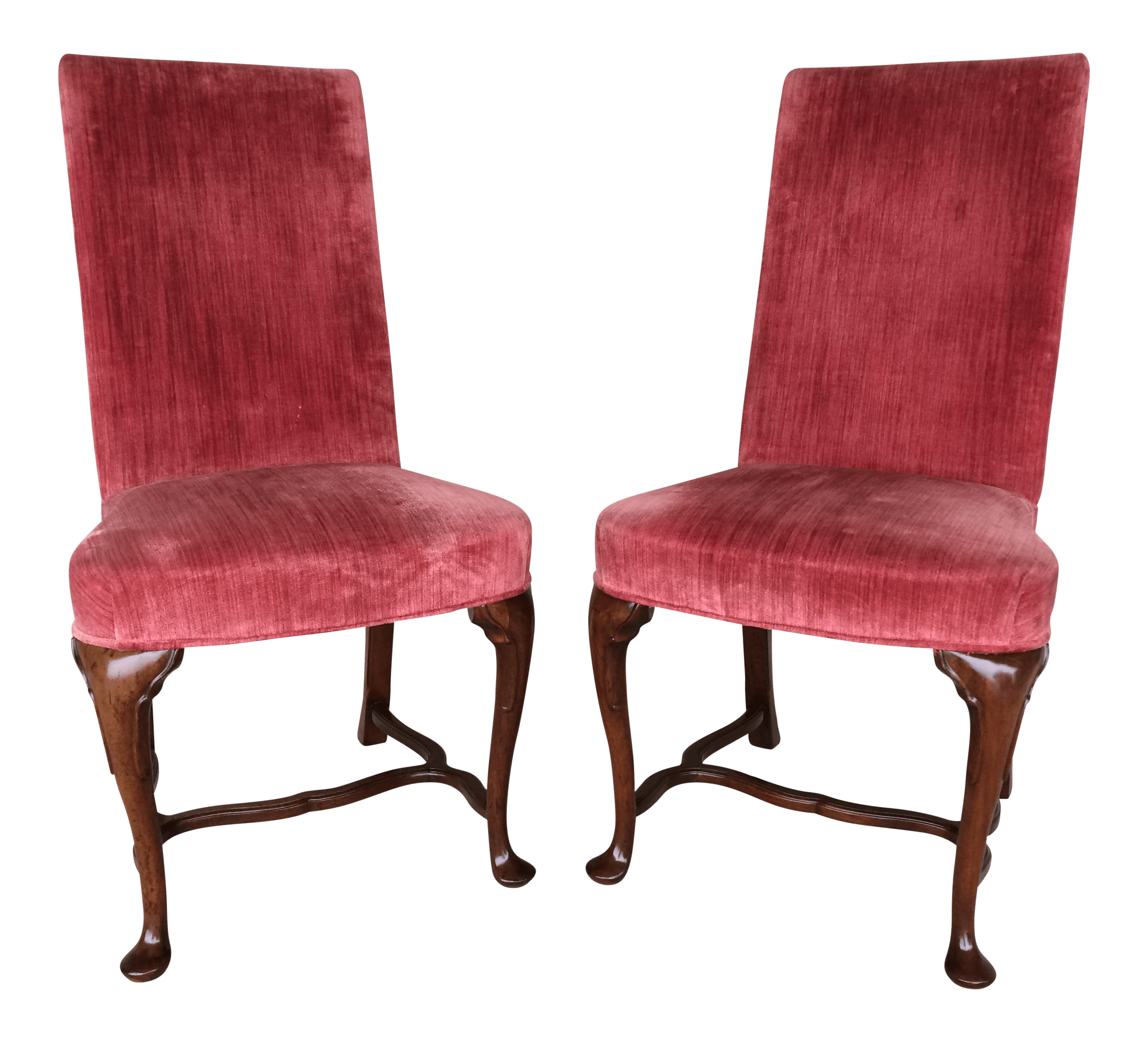 red velvet office chair quality directors chairs hickory company accent a pair