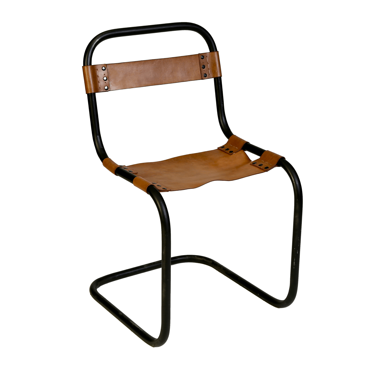 Metal And Leather Chair Metal And Vaqueta Leather Chair Chairish
