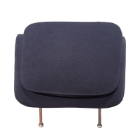 Purple Knoll Chair Ottoman | Chairish