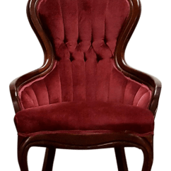Red Velvet Office Chair Ikea Plastic Antique Slipper Chairish