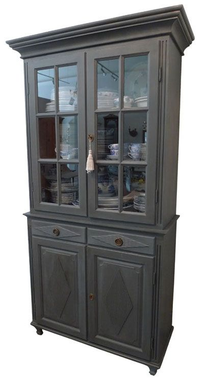 accent rocking chairs chair cover rental philadelphia gustavian tall china cabinet - dark gray | chairish