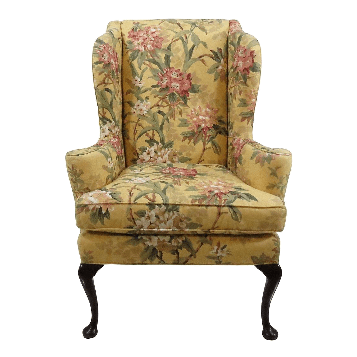 Queen Anne Wingback Chair Century Furniture Queen Anne Wingback Chair Chairish