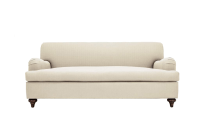 Clad Home Custom Ivory English Roll Arm Sofa | Chairish