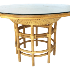 Big Round Bamboo Chair Best For Guitar Playing Brown Jordan Leather Rattan Dining Table