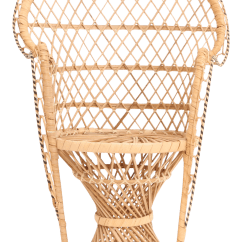 Vintage Peacock Chair Two Person Folding Camp Miniature Rattan Chairish