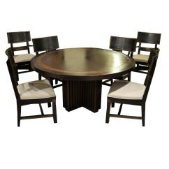 Round Dining Table For 6 Chairs Tell City 4620 Transitional And Chairish