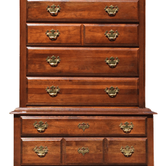 Queen Anne Side Chairs Cherry Step Two Table And Highboy Dresser | Chairish