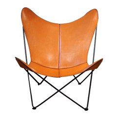 Butterfly Chair Target Walker With Cpt Code Mid Century Leather Chairish