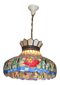 Antique Tiffany Style Stained Glass Hanging Chandelier ...