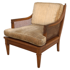 Mid Century Modern Cane Barrel Chairs Children S Lounge Chair Vintage Back Chairish