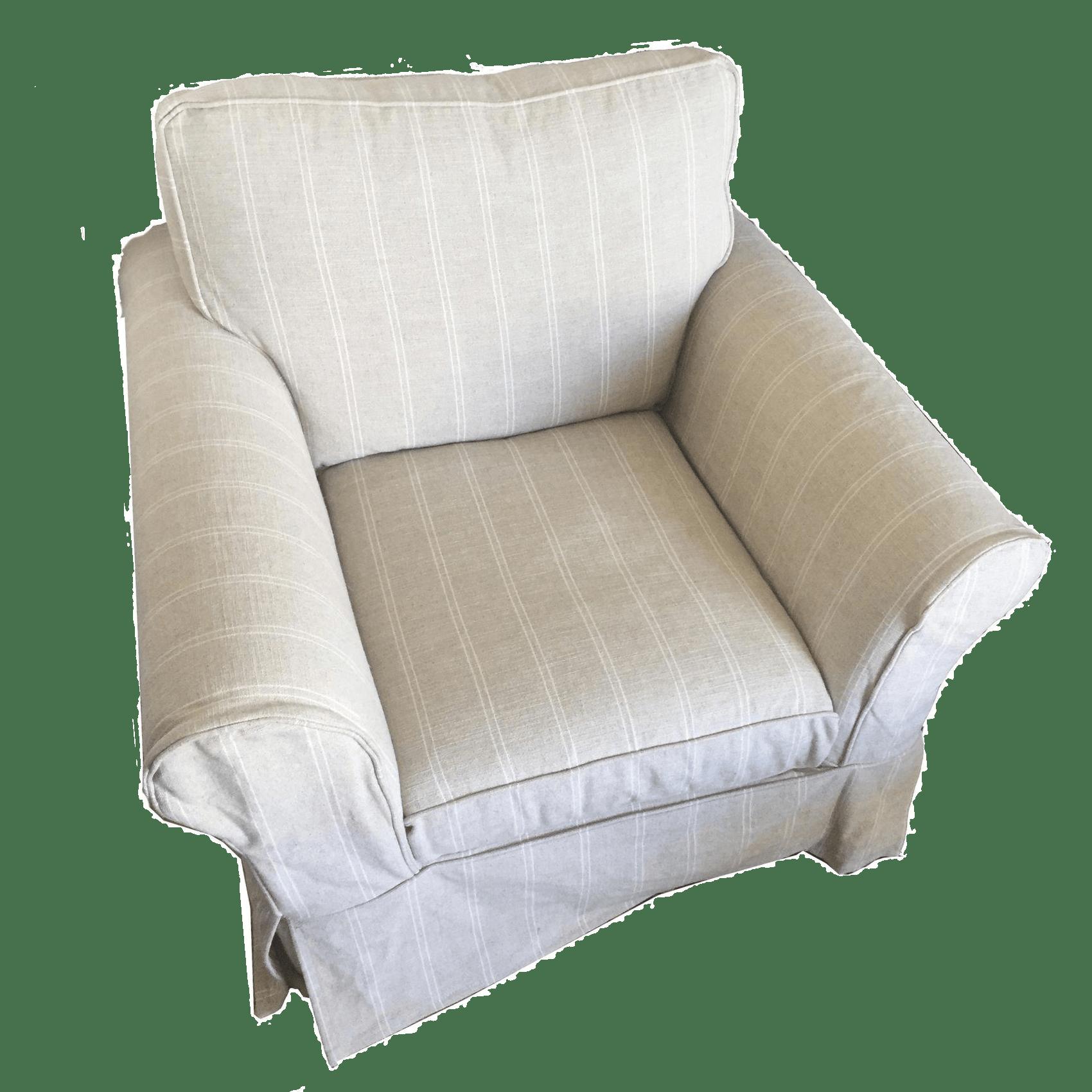 swivel chair pottery barn baby high chairs australia roll arm chairish