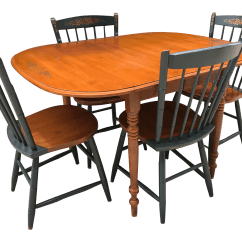Hitchcock Desk And Chair Wicker Cushion Covers Drop Leaf Table Chairs Chairish