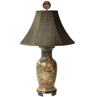 Frederick Cooper Floral Vase Table Lamp | Chairish