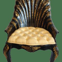 Clam Shell Chair Fishing Ladder Black And Yellow Chairish