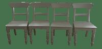 Restoration Hardware White Dining Chairs - Set of 4 | Chairish