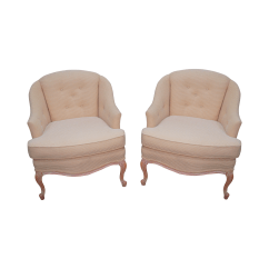 French Barrel Chair Folding Chairs Argos Ireland Louis Xv Back Lounge Pair Chairish