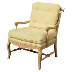 French Country Accent Chair Backjack Anywhere Uk Tufted Yellow Carved Chairish