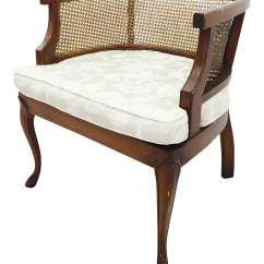 Mid Century Barrel Dining Chair Loose Covers Ireland Vintage Cane Side Back Chairish