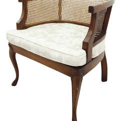 Mid Century Cane Barrel Chair Patio Sling Replacement Vintage Side Back Chairish