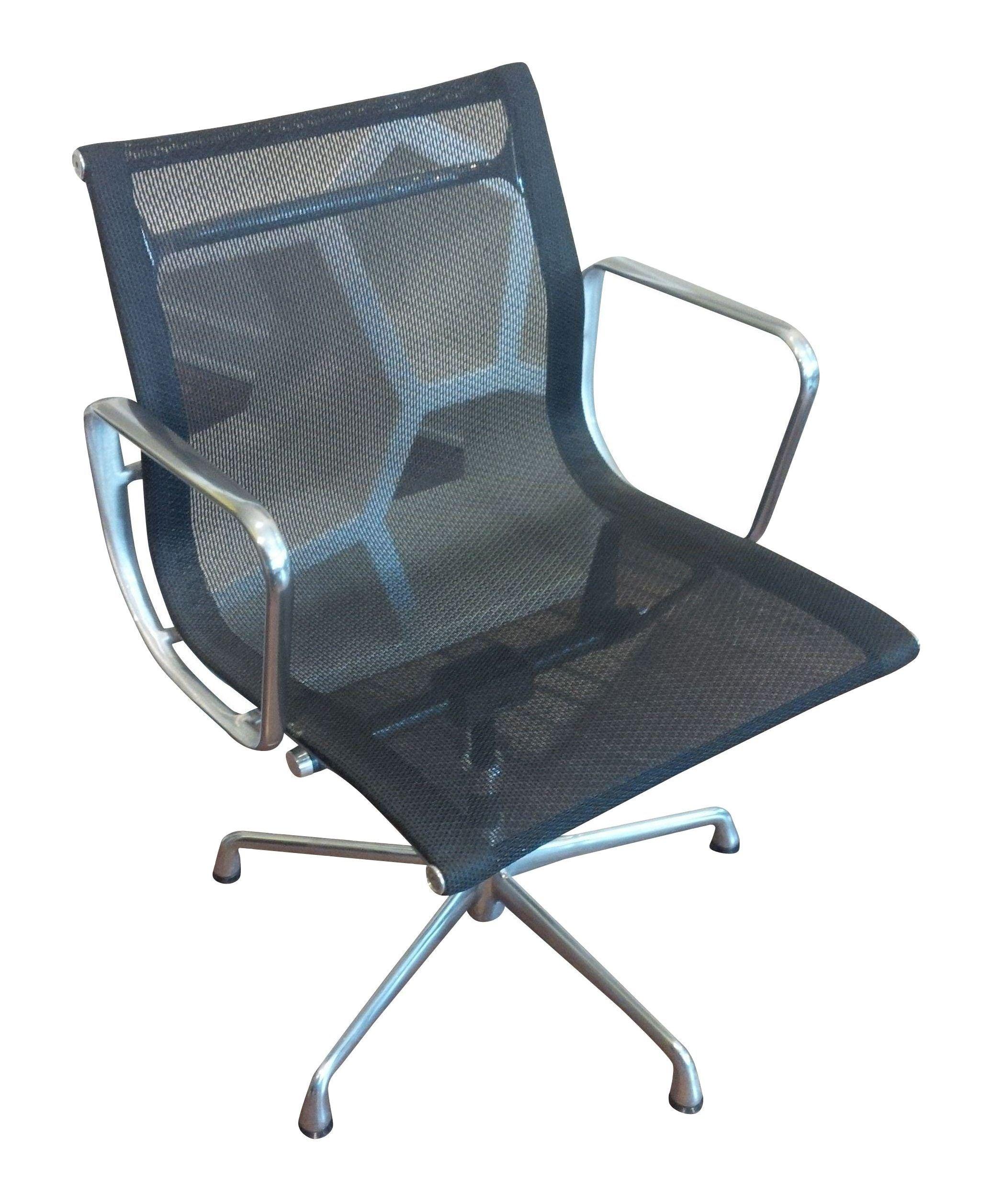 aluminum management chair alligator leather eames mesh chairish