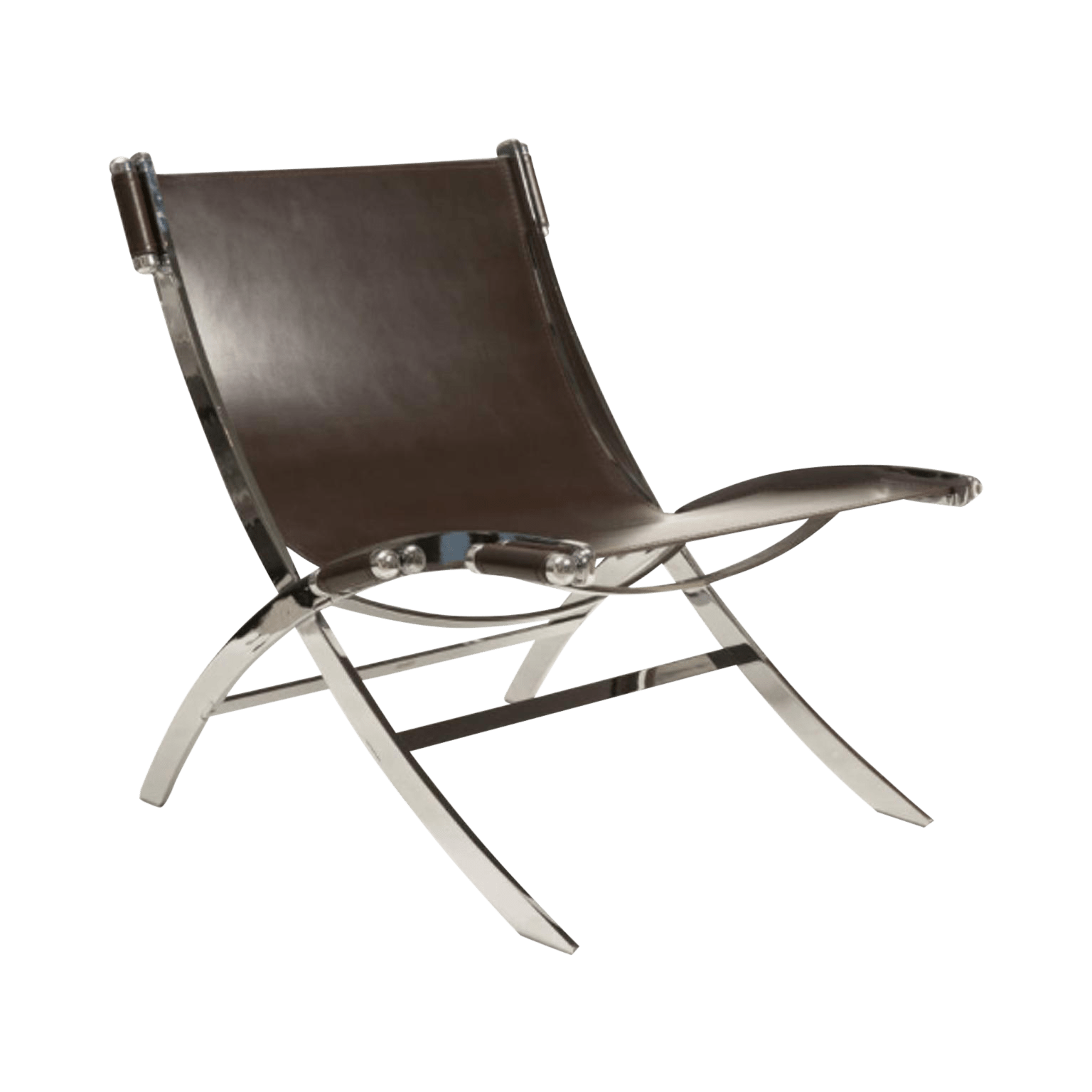 leather and chrome chairs vintage school desk chair sling paul tuttle chairish