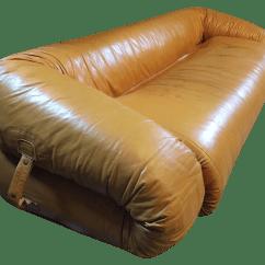 Anfibio Leather Sofa Bed Kanes 1970 39s Alessandro Becchi Chairish