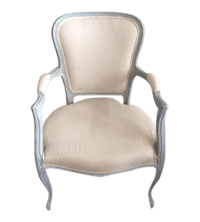 Louis XV Style Blue Gray Painted Accent Chair With ...