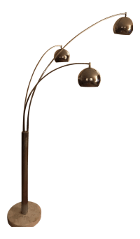 Mid-Century Modern Chrome 3 Light Floor Lamp | Chairish