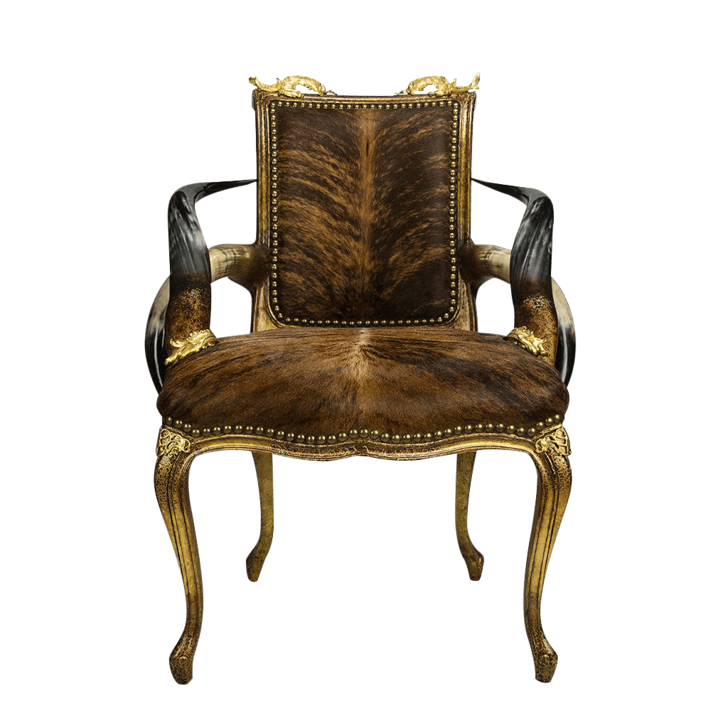 victorian accent chair pink kids longhorn cowhide gold chairish