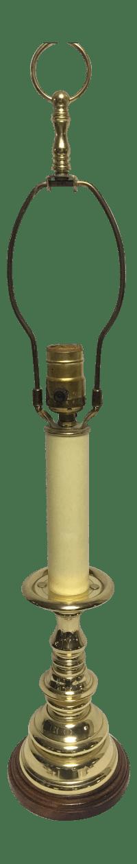 Vintage Baldwin Brass Candlestick Lamp | Chairish