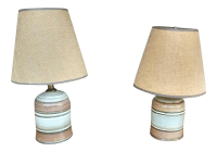 Mid-Century Ceramic Table Lamps - A Pair | Chairish