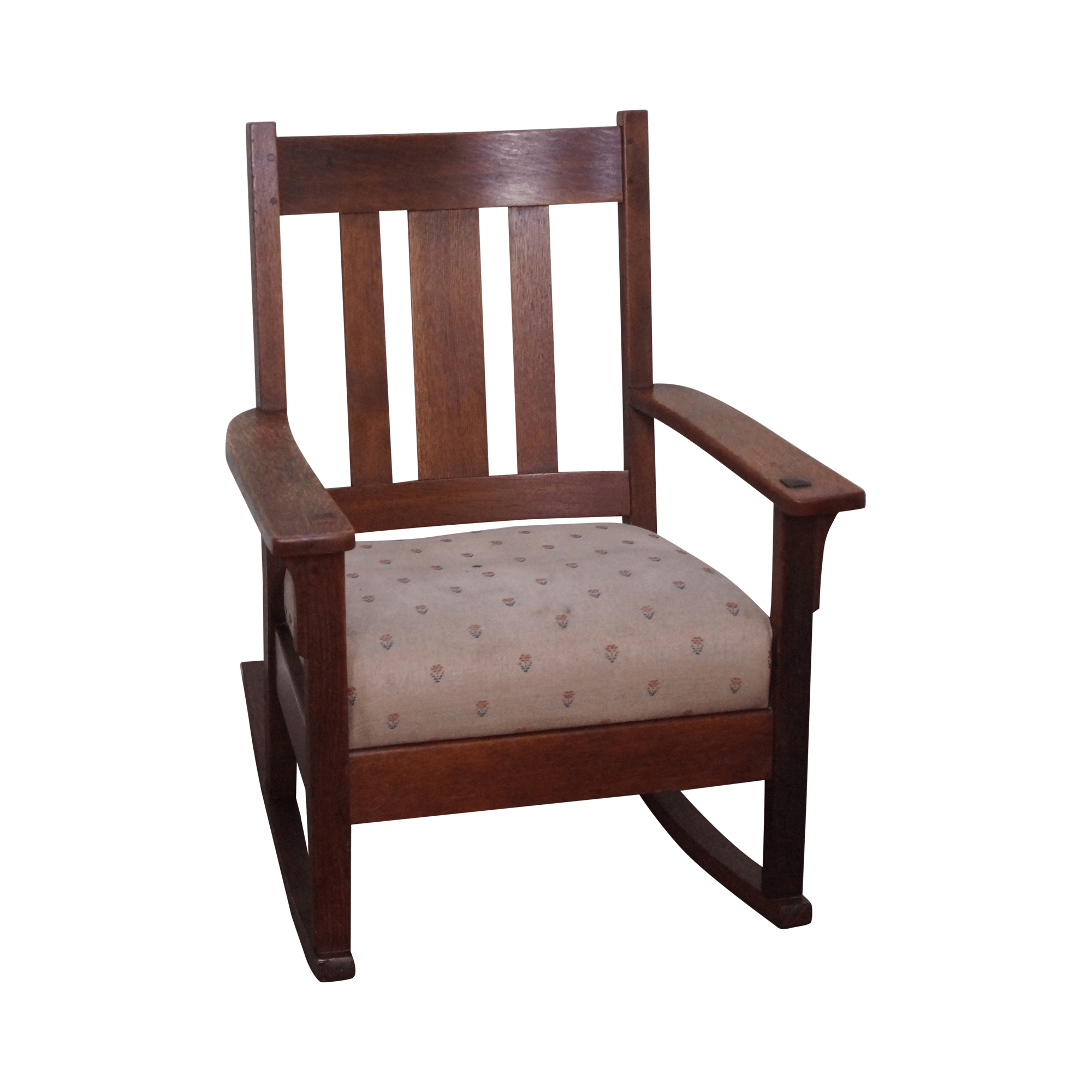 Antique Mission Oak Rocking Chair  Chairish