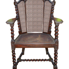 Victorian Accent Chair Covers And Linens Madison Heights Antique Jacobean Barley Twist Cane Chairish
