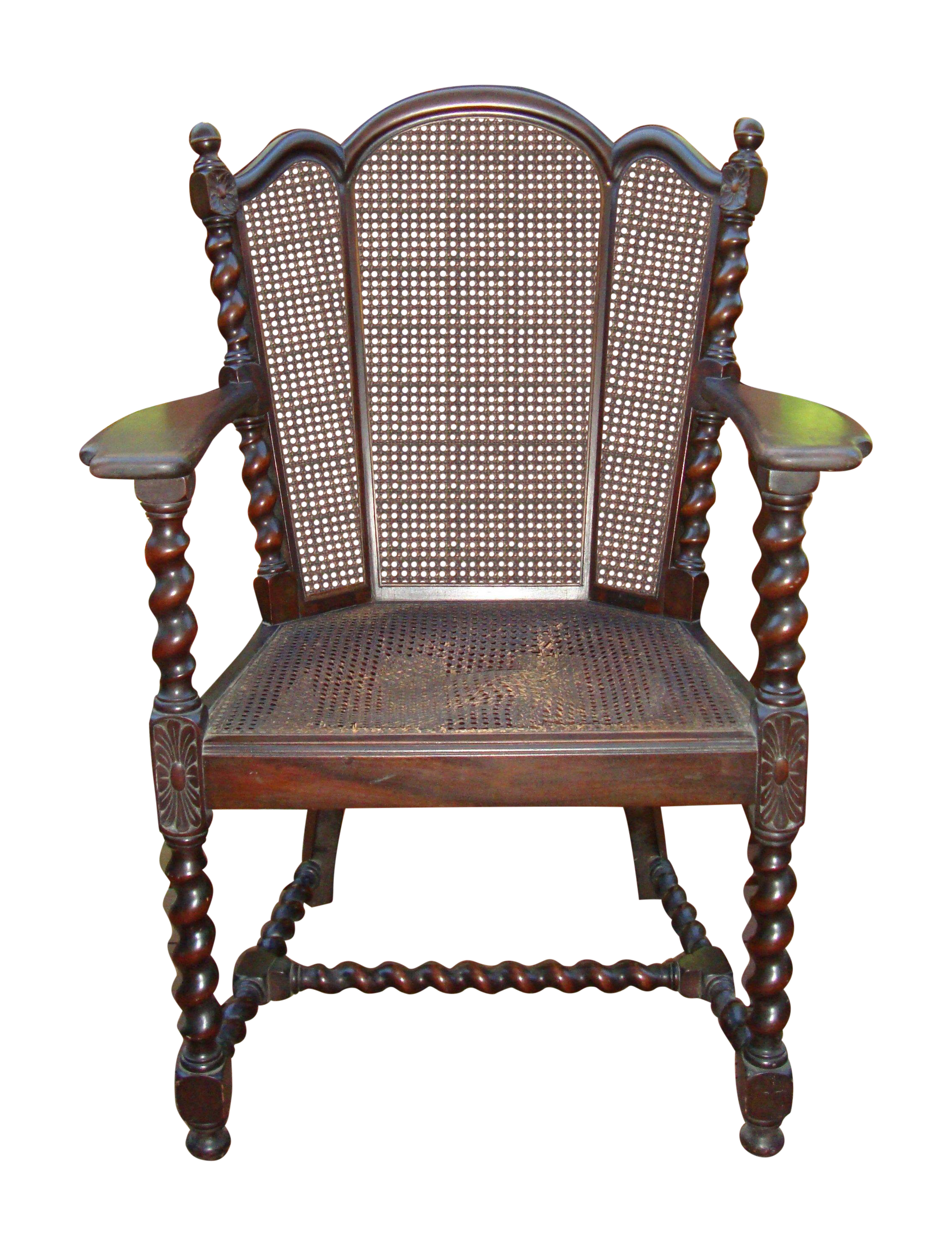 victorian accent chairs desk chair vector antique jacobean barley twist cane chairish