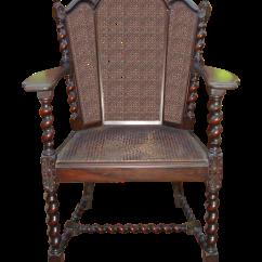 Barley Twist Chair Turquoise Kitchen Chairs Antique Victorian Jacobean Cane | Chairish