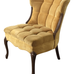 Tufted Yellow Chair College Chairs For Sale Velvet Side Chairish