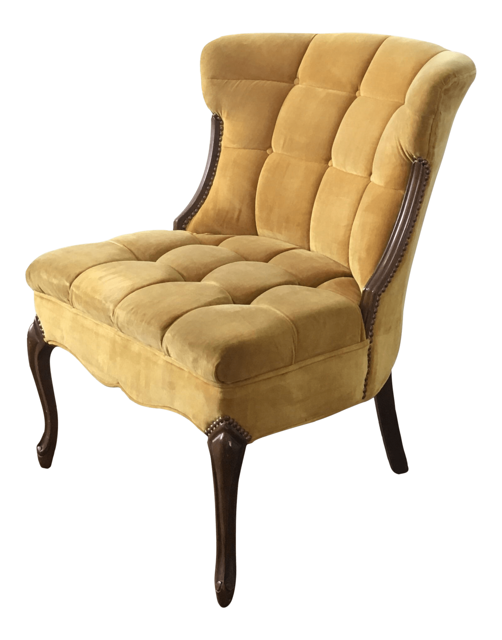 Yellow Side Chair Yellow Tufted Velvet Side Chair Chairish