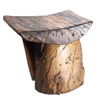 Rustic Tree Stump Stool | Chairish