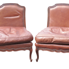 Leather Slipper Chair Chocolate Grey Upholstered Dining Room Chairs Old Hickory Brown A Pair Chairish
