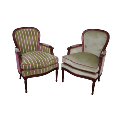 Hickory Chair Louis Xvi Black Stretch Folding Covers French Bergere Chairs Pair Chairish