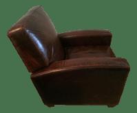 Restoration Hardware Leather Reclining Chair | Chairish