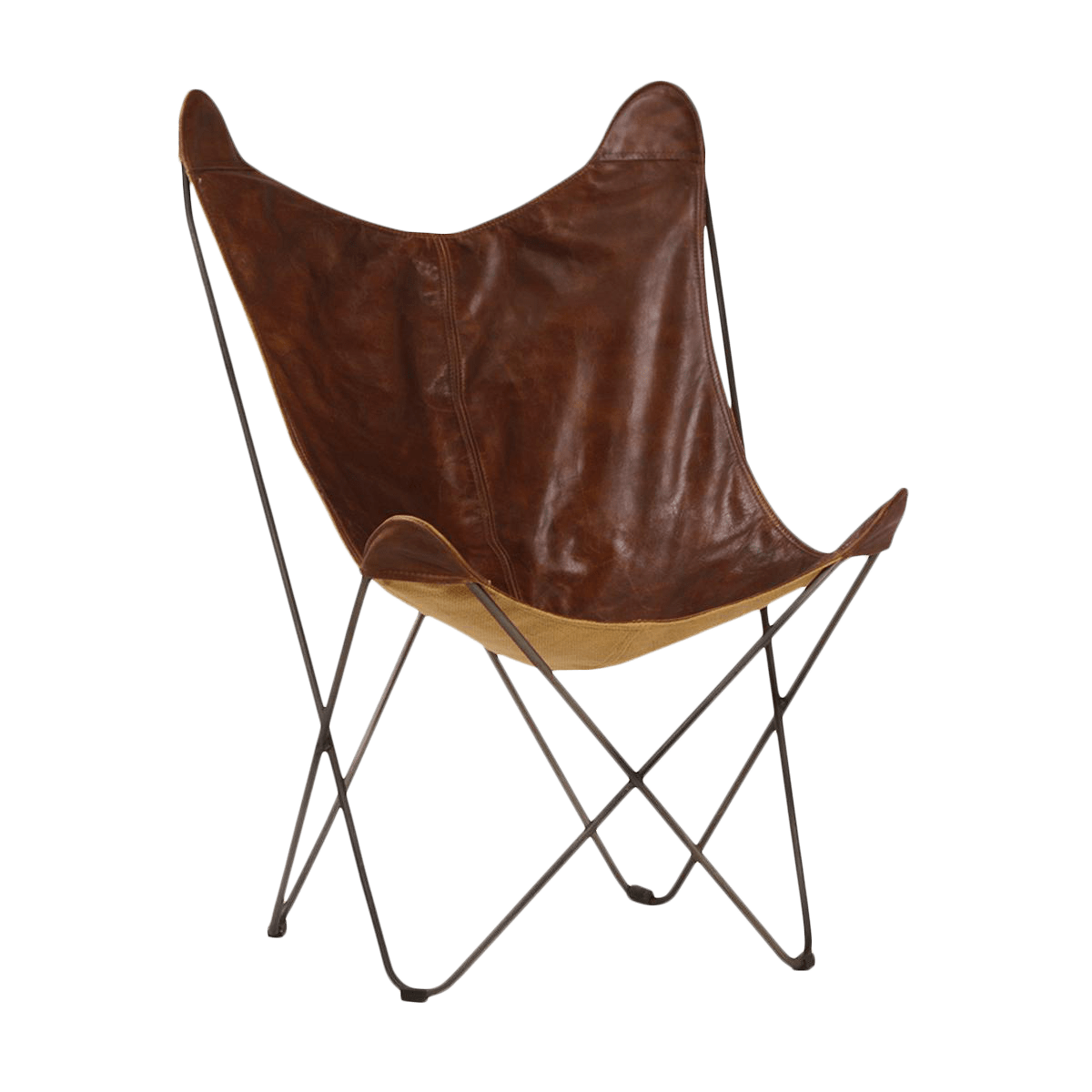Brown Leather Butterfly Chair Brown Leather Butterfly Chair Chairish
