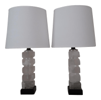 Rock Crystal Table Lamps - A Pair | Chairish