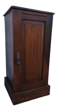 Mahogany Storage Cabinet W/ Brass Pull | Chairish