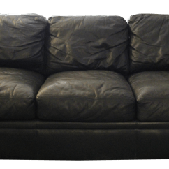 Down Filled Leather Sectional Sofa Duck Cloth Covers Maurice Villency Black Chairish