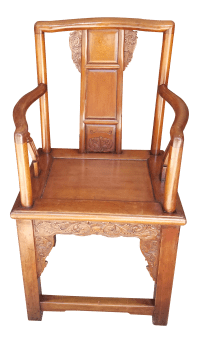 Antique Wood Chinese Chair | Chairish