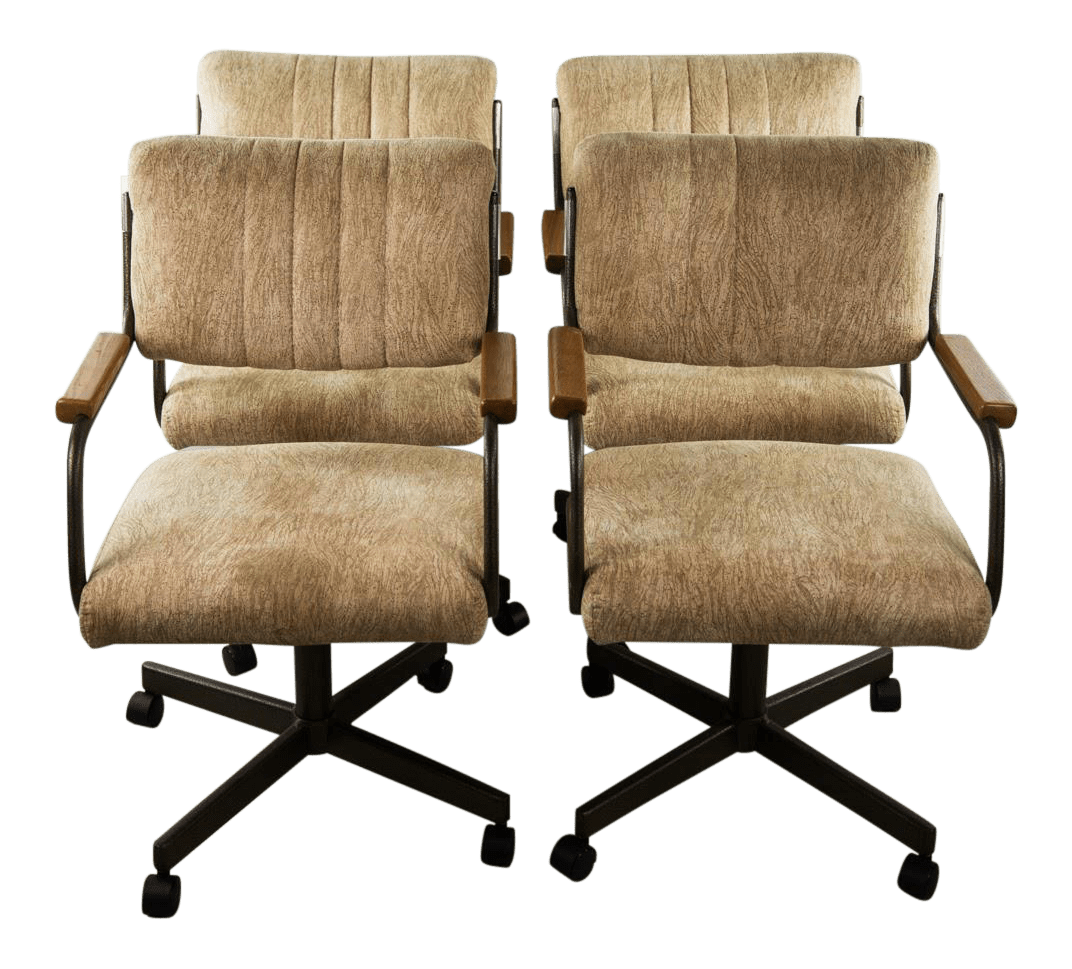 Chromcraft Dining Chairs Chromcraft Swivel Office Or Dining Chairs Set Of 4