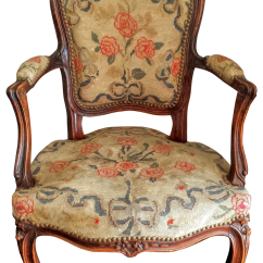 Antique Needlepoint Chair Child Upholstered French Louis Xv Style Chairish